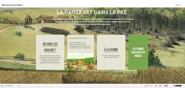 webdocumentaire Chez les Gaulois