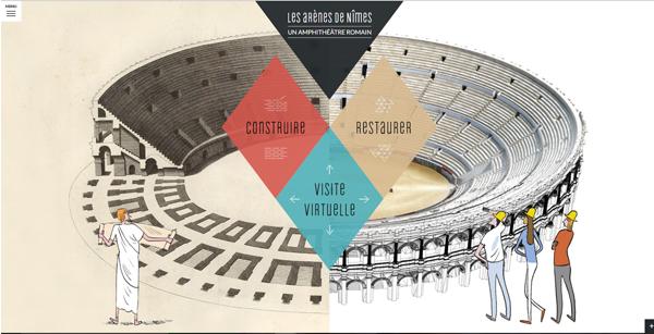 Webdocumentaire Les arènes de Nîmes