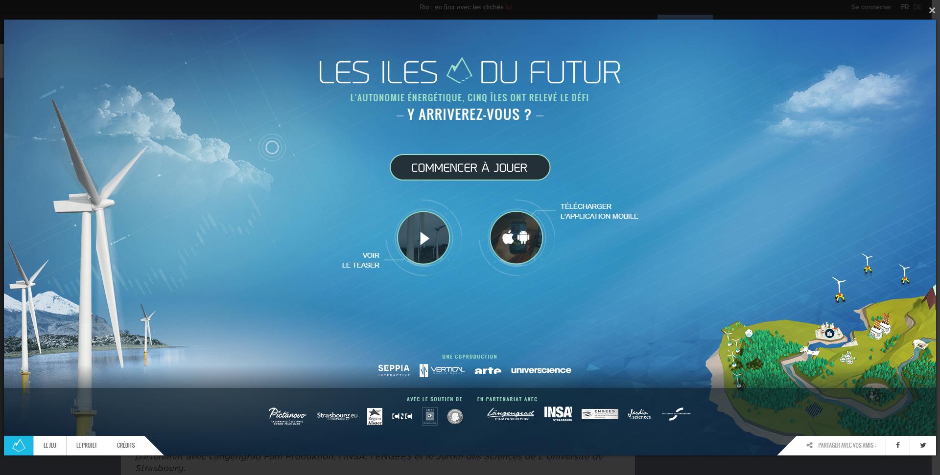 Webdocumentaire Les îles du futur