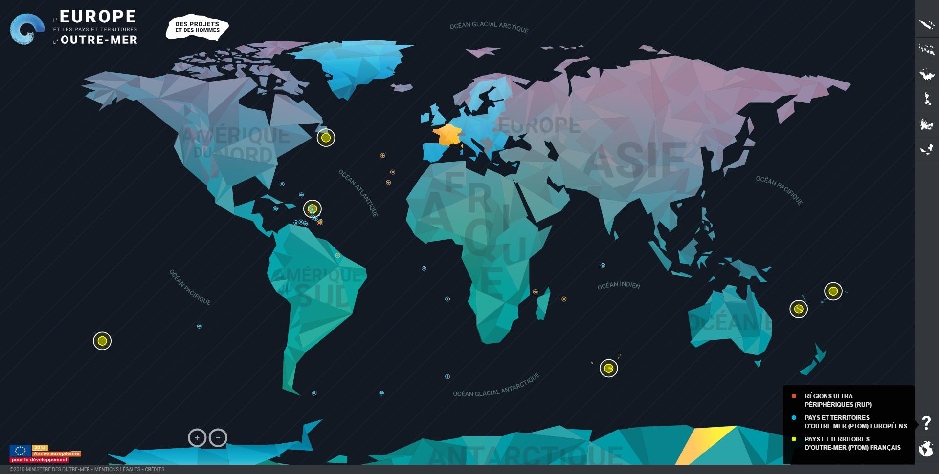 Webdocumentaire L'Europe et les territoires d'outre mer