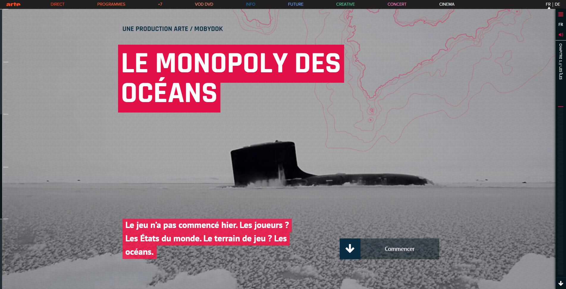 Webdocumentaire Le monopoly des océans