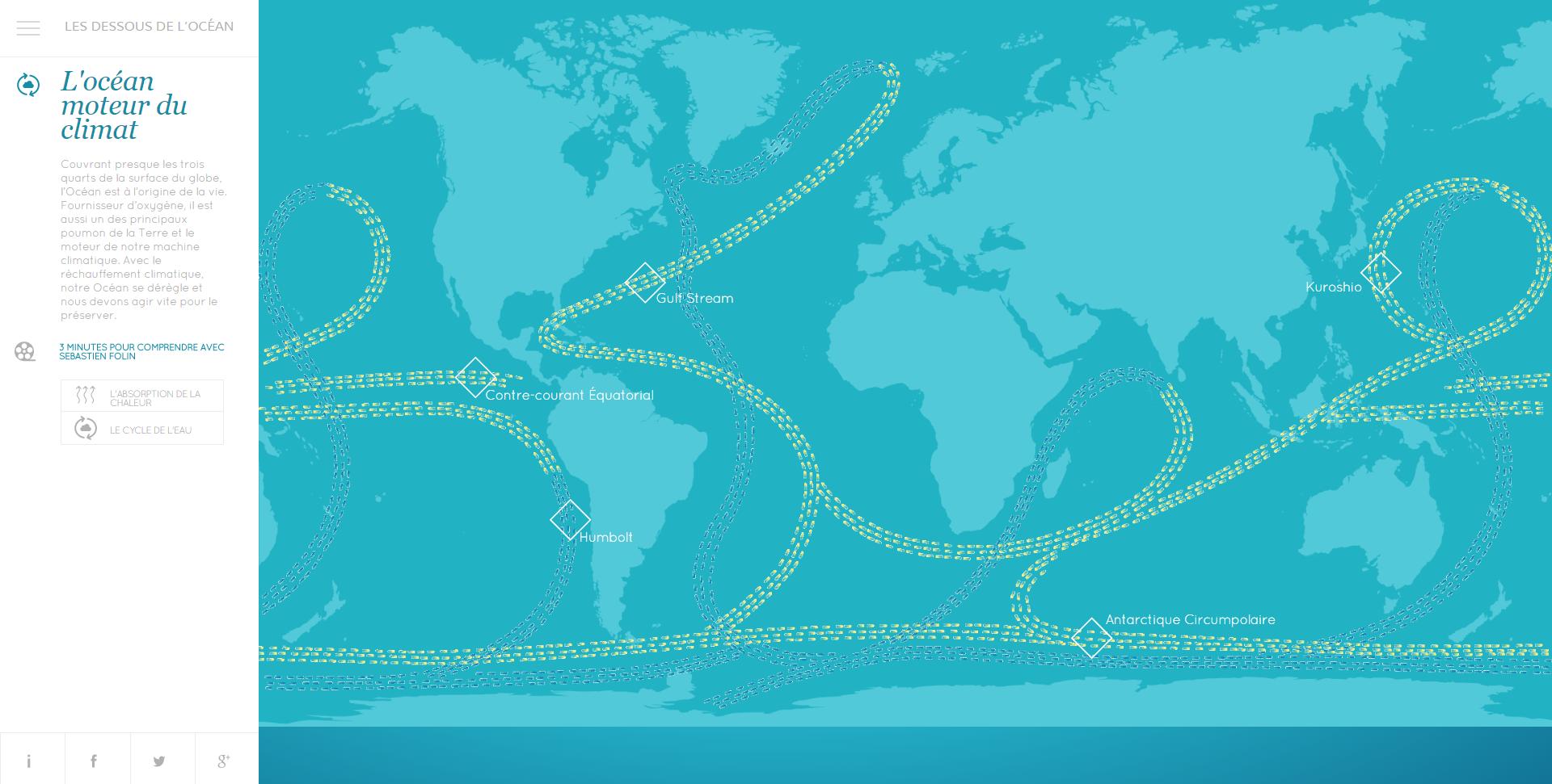 Webdocumentaire Les dessous de l'océan