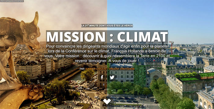 Webdocumentaire Mission Climat